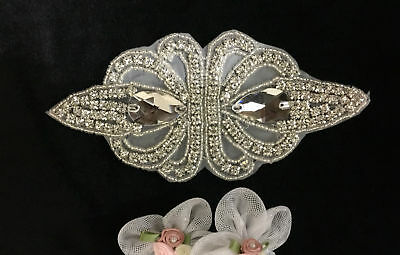 Beautiful Iron On Applique Patch For Wedding Bridal Dress Sash Belt Decor