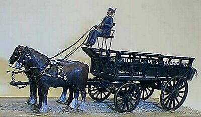 O Scale Model Kits (1:43) M3 L.M.S. 5ton 2 Horse Drawn Wagon -Unpainted