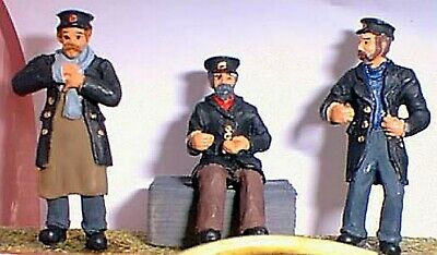 O Scale Unpainted Models Kit  3 Assorted Draymen Figures OF15