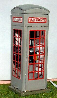 O Scale Unpainted Model Kit 1:43 L4 British UK Telephone box series 3 1929