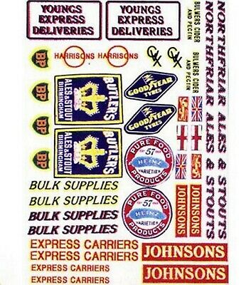Assorted vehicle decals- set 1 N Scale NT2