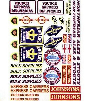 Langley Models Vehicle Decals set 1 for Lorries Trucks N Scale Model Decals NT2