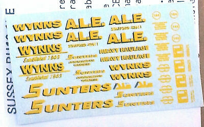 Langley Models Heavy haulage Wynns Sunters A.L .E. N Scale Model Decals NT5