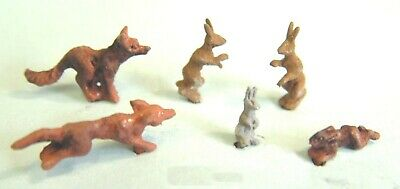 Langley Models Animal British Fox Hares + Rabbit OO Scale PAINTED F145p