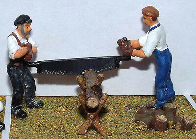 O Scale Unpainted Models Kit 2 Foresters with crosscut saw & sawhorse OF10