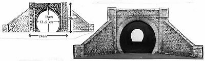 O Scale 1:43 Unpainted Model Kit Single Tunnel Mouth (single track) L16
