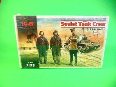 ICM MODELS 1/35th Scale WWII Soviet Tank Crew 1939-42 Model Kit 35181 NEW Sealed