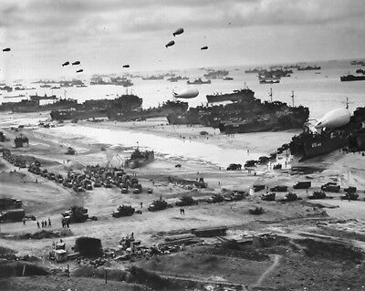 New 11x14 WWII Photo: Landing Ship after D-Day at Normandy, Operation Overlord