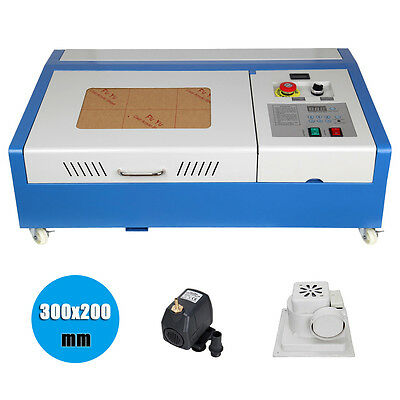 300x200mm 40W CO2 USB Port Laser Engraving Cutting Machine Engraver Cutter