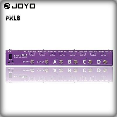 JOYO PXL8 Programable Pedal Controller Switching Grouping System Purple Effects