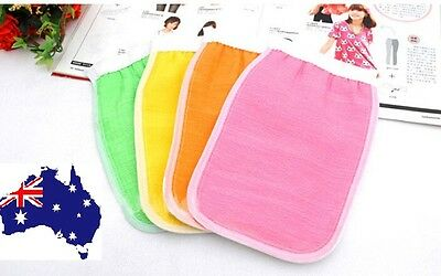 Shower Exfoliating Bath Gloves Massage Loofah Scrubber Shower Wash Skin Body Mas