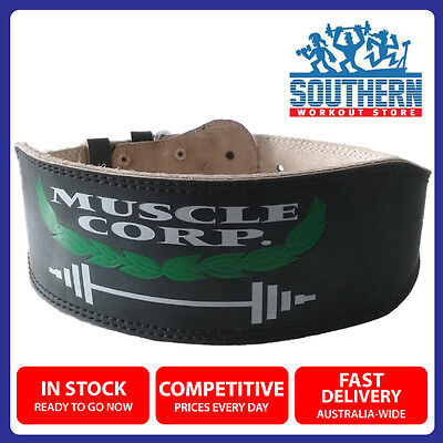 Muscle Corporation Weight Training Belt SIZE XS Leather Back Support