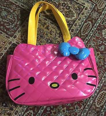 Sanrio Hello Kitty Loungefly Neon pink handbag purse tote. 12 by 17 inches