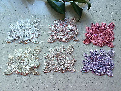Lace Flower Applique Sewing Craft  8x6.5cm  Width