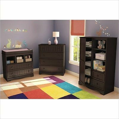 11 Of 12 Modern Baby Furniture Sets Espresso Changing Table Dresser Nursery Armoire 3pc