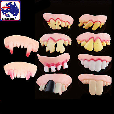 10pcs Fake Freaky Front Teeth Costume Funny Gag Makeup Vampire Toy GSPTE 4433x10
