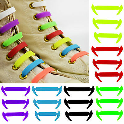 Best 12 Pcs No Tie Shoelaces Silicone Shoelaces Elastic Shoe Laces Sneaker Laces