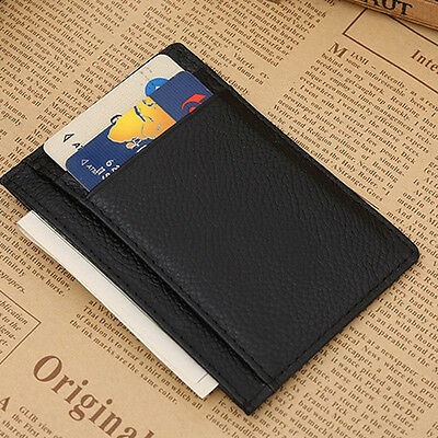 saling mens wallet money clip credit card holder id business leather mini purse - Mens Money Clip Credit Card Holder