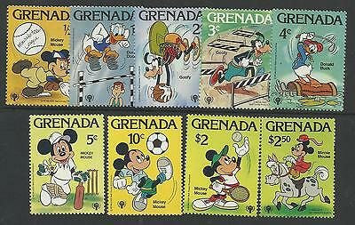 GRENADA 1979 DISNEY YEAR of CHILD SPORTS GOLF CRICKET TENNIS Complete Set 9v MNH