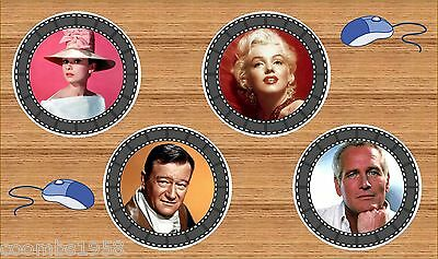Hollywood Icon Round Film Border Mousemat