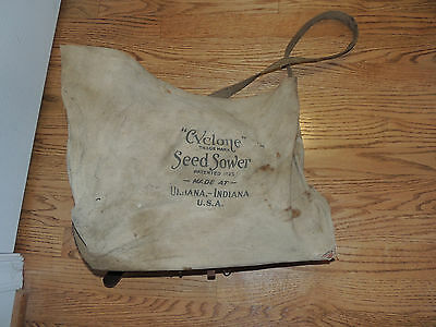 ANTIQUE Cyclone Seed Sower Hand Held Crank Seed Spreader Urbana IN Works