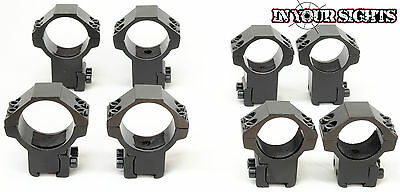 Rifle scope mounts. 9.5-11mm Dovetail rail 25 or 30mm rings /High or Low profile