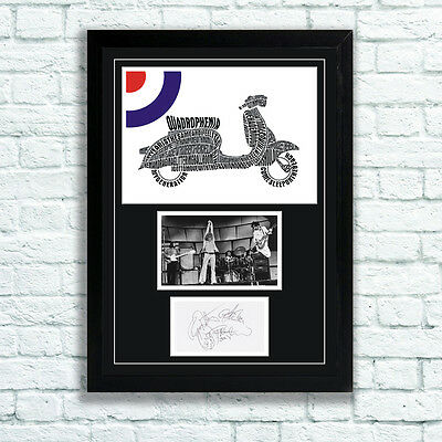 The Who Quadrophenia Memorabilia Autographs and Poster Pete Townshend MOD