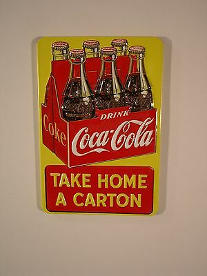 "Coca Cola Embossed ""Take Home a Carton"" Magnet by Ande Rooney"