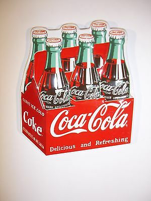 Coca Cola 6-Pack Embossed Magnet by Ande Rooney