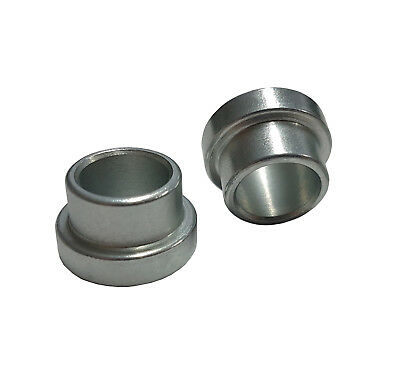 """1/2"""" to 3/8"""" (SHORT) Shock Absorber/Rod End Top Hat Reducers Reducing Spacers x2"""