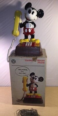 Vintage Collectible The Mickey Mouse Phone In Original Box