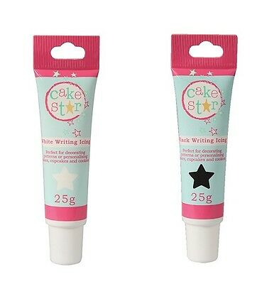 25g Cake Star Writing Icing Black, Blue, Pink and White Available