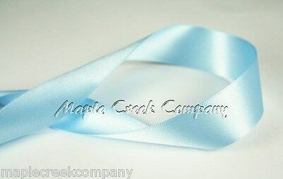 """3yd of Aqua 1.5/"""" Double Face Satin Ribbon 1.5/"""" x 3 yards neatly wound"""