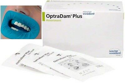 Optradam Plus Assorted Sizes 50 Pcs Ivoclar. Dental Rubber Dam Without Clamps.