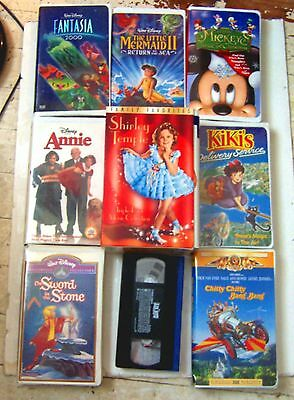 Lot of 12 Children's VHS Movies: Fantasia, Alice in ...