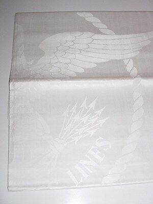 SS UNITED STATES LINES  Large Eagle Insignia Tablecloth  / (5) Different Sizes