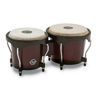 Latin Percussion LP City Bongos, Dark Wood, LP601NY-DW, Brand New