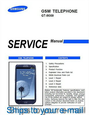 Samsung Galaxy S3 GT-I9300 Service Repair Technical Manual in PDF Level 1,2 & 3