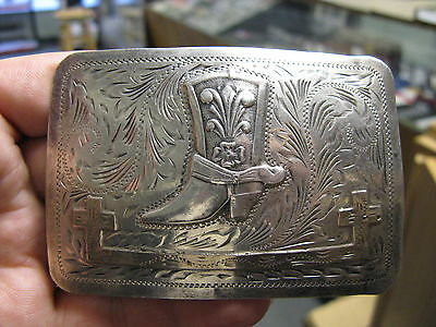 Silver Buckle with Ladies Cowboy Boot - Mexico Eagle 50 Jalisco VHLC Guadalajara