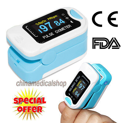 FDA Finger Tip Pulse Oximeter/Oximetry oxygen saturation SPO2/PR heart rate USA