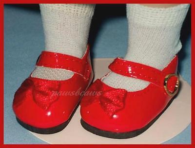 "RED Patent MaryJane SHOES for 10"" PATSY Ann Estelle 14"" Madame Alexander"