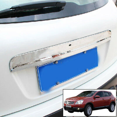 For Nissan Qashqai Chrome Rear Door Handle Tailgate Boot Trunk Grab Trim Cover