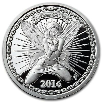 2016 Reddit Silverbugs Alyx The Fairy 1 oz .999 Silver Proof Round USA Made Coin