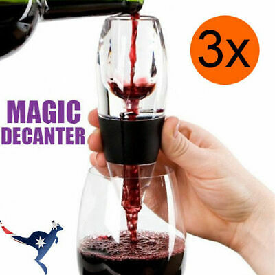 3x New Magic Decanter Essential Wine Aerator and Sediment Filter