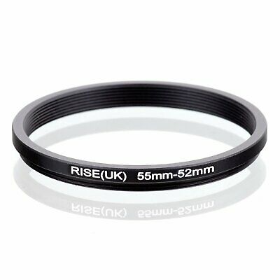 RISE(UK) 55-52MM 55 MM- 52 MM 55 to 52 Step Down Ring Filter Adapter