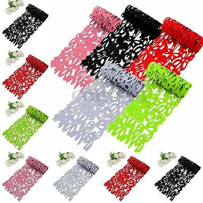 3mm Openwork Floral Design Table Runner Cloth Tableware Decor 100X30cm 5 Colors