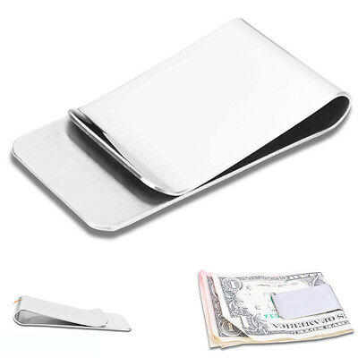 Portable Stainless Steel Money Cash Clip ID Credit Card Clamp Holder Slim Wallet