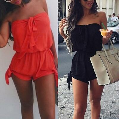 Womens Celeb Casual Playsuit Party Evening Summer Romper Dress Jumpsuit Shorts