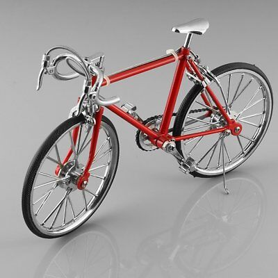 Diecast Model Collections 1:10 Racing Bike Bicycle Replica Toy Red New