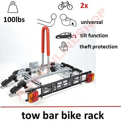 Towbar Mounted Bike Rack for Two Cycle Carrier Steel Hitch Mount High QUALITY